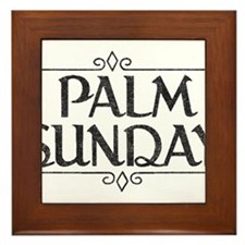 Vintage Palm Sunday Framed Tile