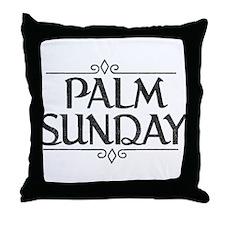 Vintage Palm Sunday Throw Pillow
