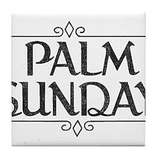 Vintage Palm Sunday Tile Coaster