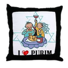 I Love Purim Throw Pillow