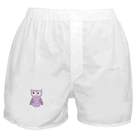 Purple Owl Boxer Shorts