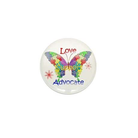 Autism Awareness Butterfly Mini Button