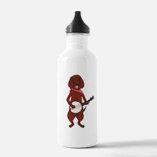 Banjo Bloodhound dog Water Bottle