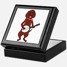 Banjo Bloodhound dog Keepsake Box