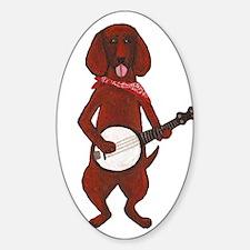 Banjo Bloodhound dog Sticker (Oval)