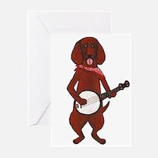 Banjo Bloodhound dog Greeting Cards (Pk of 10)