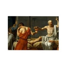 The Death Of Socrates Rectangle Magnet
