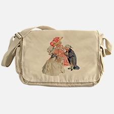 Martha Washington's Tea Party Messenger Bag