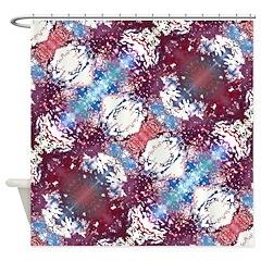 Aura Maroon Shower Curtain