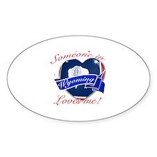 Wyoming Heart Designs Sticker (Oval)