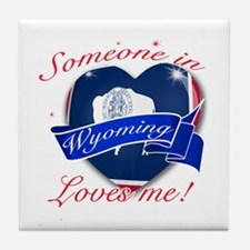 Wyoming Heart Designs Tile Coaster