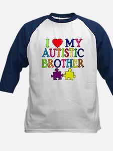 I Love My Autistic Brother Kids Baseball Jersey