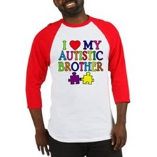 I Love My Autistic Brother Baseball Jersey