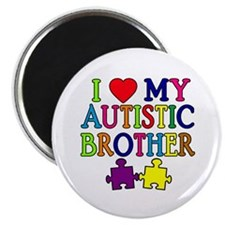 """I Love My Autistic Brother 2.25"""" Magnet (100 pack)"""