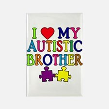I Love My Autistic Brother Rectangle Magnet
