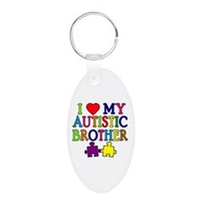 I Love My Autistic Brother Keychains