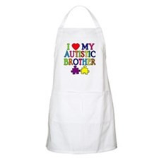 I Love My Autistic Brother Apron