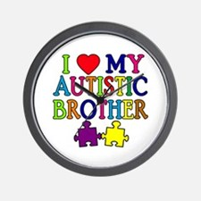 I Love My Autistic Brother Wall Clock