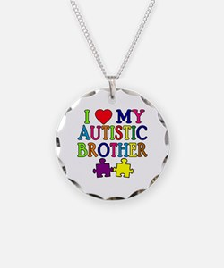 I Love My Autistic Brother Necklace