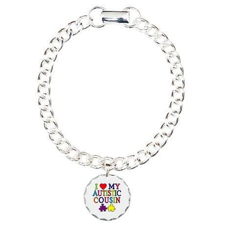 I Love My Autistic Cousin Charm Bracelet, One Char