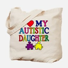 I Love My Autistic Daughter Tshirts Tote Bag