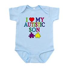 I Love My Autistic Son Tshirts Infant Bodysuit