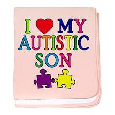 I Love My Autistic Son Tshirts baby blanket
