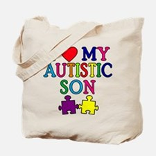 I Love My Autistic Son Tshirts Tote Bag