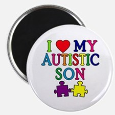 "I Love My Autistic Son Tshirts 2.25"" Magnet (100 p"