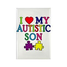 I Love My Autistic Son Tshirts Rectangle Magnet
