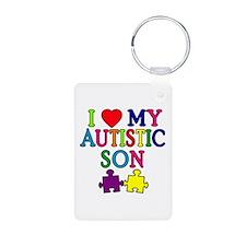 I Love My Autistic Son Tshirts Aluminum Photo Keyc