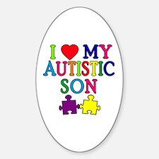 I Love My Autistic Son Tshirts Decal