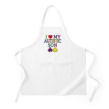 I Love My Autistic Son Tshirts Apron