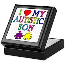 I Love My Autistic Son Tshirts Keepsake Box