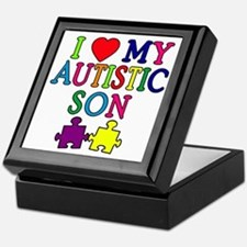 I Love My Autistic Son Tshirts Keepsake Box