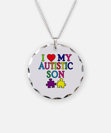 I Love My Autistic Son Tshirts Necklace