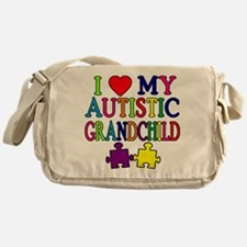 I Love My Autistic Grandchild Tshirts Messenger Ba