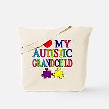 I Love My Autistic Grandchild Tshirts Tote Bag