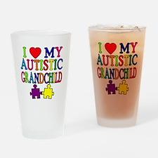I Love My Autistic Grandchild Tshirts Drinking Gla