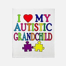 I Love My Autistic Grandchild Tshirts Stadium Bla