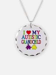 I Love My Autistic Grandchild Tshirts Necklace