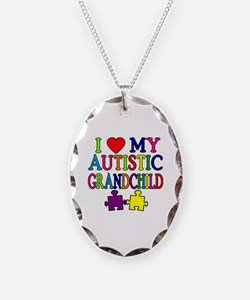I Love My Autistic Grandchild Tshirts Necklace