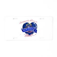 North Dakota Girl Aluminum License Plate