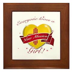 New Mexico Girl Framed Tile