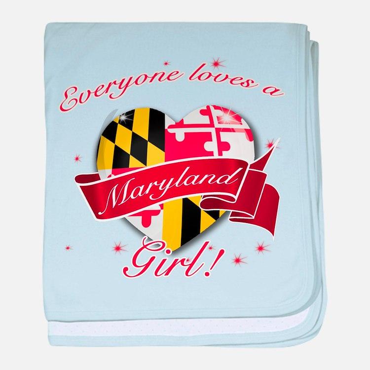 Maryland Girl baby blanket