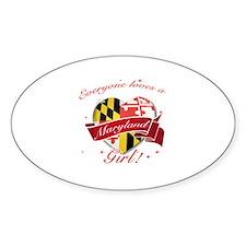 Maryland Girl Sticker (Oval)