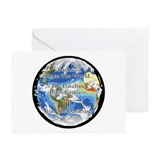 """""""I Run The Database"""" Greeting Cards (Pk of 10)"""
