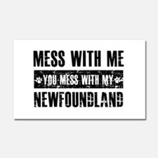 Newfoundland Dog design Car Magnet 20 x 12