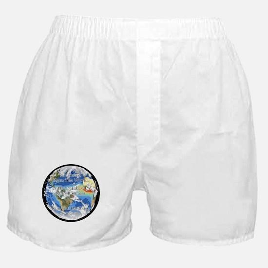 """""""I Run The Database"""" Boxer Shorts"""