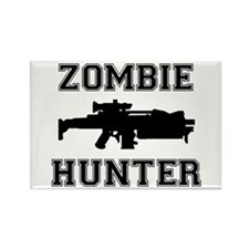 Zombie Hunter Rectangle Magnet